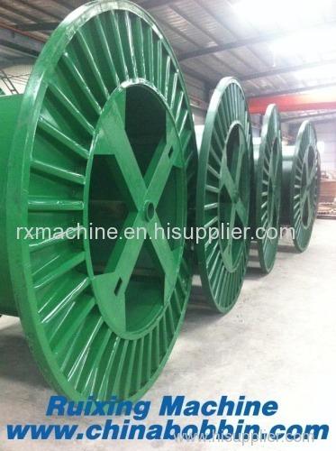 Pressed steel bobbin cable spool for steel wire cable copper corrugated bobbin cable steel