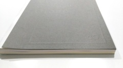 Blind embossed hardcover book