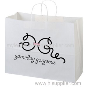 Wholesale Vogue White Paper Shopping Bags