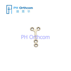 Micro Titanium Y-Plate for Cranio-Maxillofacial Surgery System 1.5 Plate thickness 0.6mm 4 holes