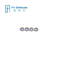 頭蓋顎顔面外科手術システム1.5ストレートプレートギャップ厚さ0.6ミリメートルのない4つの穴のためのチタンマイクロプレート