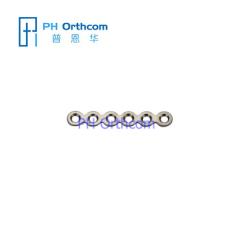 Micro Titanium Прямая форма 6 отверстий без моста пластиной для черепно-челюстно-лицевой хирургии системы 1.5