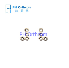 Titanium Micro L Plate for Cranio-Maxillofacial Surgery System 1.5 Left&Right 4 holes wihout bridge