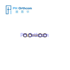 Titanium Micro Straight Plate for Cranio-Maxillofacial Surgery System 1.5 Plate thickness 0.6mm 4 holes with bridge