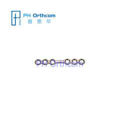 Titanium Micro Plate for Cranio-Maxillofacial Surgery System 1.5 Plate thickness 0.6mm 6 holes with bridge