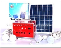 20w household solar power lighting system