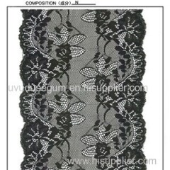 Floral Wide Black Lace Trim (J1022)