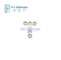 Titanium Micro T Plaat voor Kaakchirurgie System 1.5 Plate dikte 0,6 mm 5 gaten