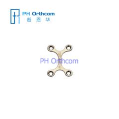 Titanium Micro Пластина для Черепно-челюстно-лицевой хирургии Х-образной плиты толщиной 0,6 мм используется с 1,5 мм винтами