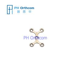 Titanium Micro Пластина для Черепно-челюстно-лицевой хирургии X Тарелка с 5 отверстиями Толщина 0,6 мм 1,5 мм, используемого с винтами