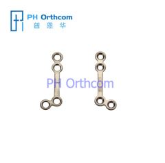 Titanium Micro Plaat voor Cranio-Kaakchirurgie Facial Surgery L-Plate 135 graden 4 gaten met een gap Plate dikte 0,6 mm