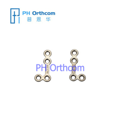 Titanium Micro L-shaped Plate(90 degree) for Maxillofacial Surgery Plate thickness 0.6mm used with 1.5mm screws