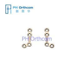 Titanium Micro L-shaped Plate(135 degree) for Cranio-Maxillofacial Surgery System 1.5 Plate thickness 0.6mm