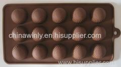 15pcs Dot Chocolate Siliconen Mould