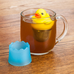 Duck shaped yellow Tea infuser