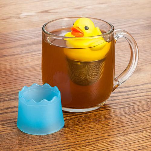 Duck shaped yellow Tea infuser