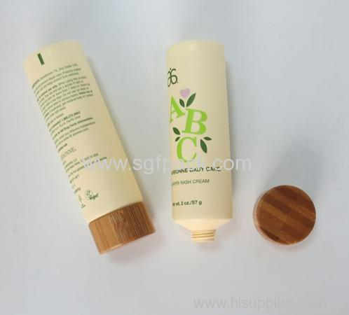 35mm plastic tube with bamboo cap with aluminum foil