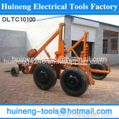 Hydraulic Reel Trailers lifting cylinders activated by separate hand pumps