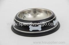 L: dia25.8 * 6,3 centimetri di cane in acciaio inox Ciotola per cane di grandi dimensioni