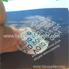 Custom Round Warranty Void If Tampered Stickers With Company Logo and Website Printing for Warranty Void Seal Stickers