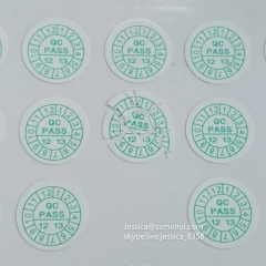 Factory Wholesale Destructible Vinyl Paper Adhesive Label Custom Breakable Warranty Date Sticker If Seal Broken