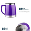 Brand New Large Insulated Travel Mug 450ml Flask Keep Drinks Hot or Cold