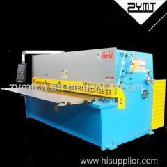China best sale ZYMT hydraulic swing beam cutting machine with E21 controller