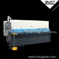 ZYMT high quality best price hydraulic swing beam shearing machine with CE certification