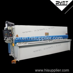 ZYMT China factory derect sale hydraulic swing beam shearing machine with E21 controller