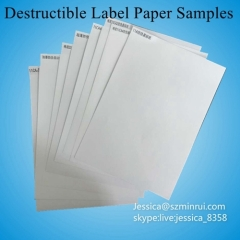 Largest Factory Matte White Breakable Security Paper Destructible Vinyl Label Paper For Customized Warranty Sticker