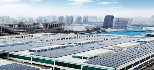 Commercial and industrial rooftop solar power plant system solution