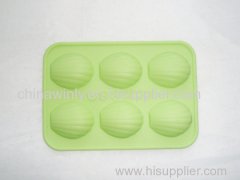 6 Holes Muffin Silicone Cake
