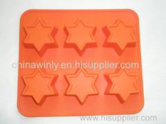 6 Star Muffin Silicone Mould