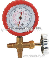 63mm Freon Manometer With Valve For Refrigeration