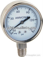 63mm All St.St. Bottom Ammonia Manometer In St.St. Bezel