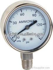 63mm All St.St. Bottom Ammonia Manometer In St.St. Bezel