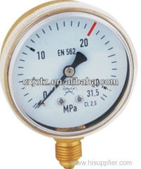 63mm Bottom Screw Window Oxygen Pressure Gauge