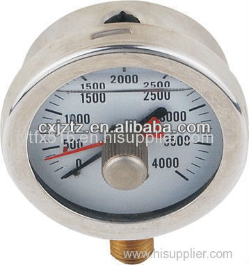 "Contact Now63mm 2.5"" Radial Silicone Oil Filled Manometer Bayonet Type"