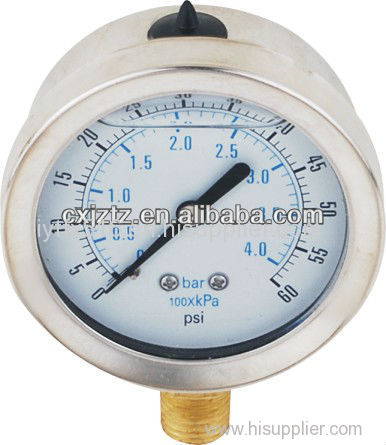 """50mm 2.0"""" Bottom Silicone Oil Filled Pressure Gauge Bayonet Type"""