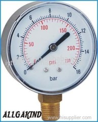 Bottom Dry Pressure Gauge