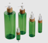 transparent green color PET bottle