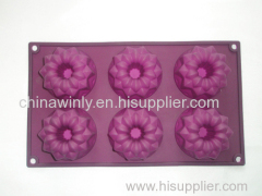 Flower Style Muffin Silicone Cake