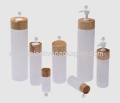 rubber houten afsluiting met PE fles