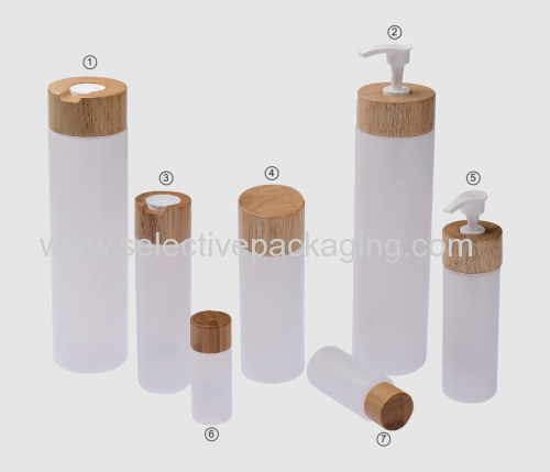 rubber wooden closure with PE bottle