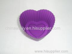 Small Heart Muffin Silicone Cake