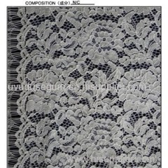 Top Quality Nylon And Cotton Eyelash Lace Fabric (E3297)