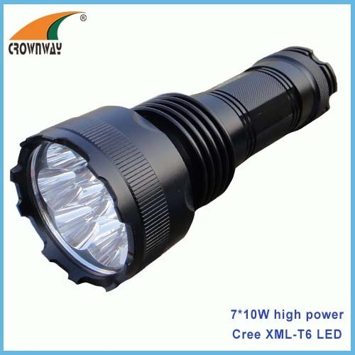 7*10W Cree LED rechargeable 18650 hand torches heavy duty aluminum material 5600Lumen high power work repairing light