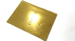 Gold metallic softcover business brochure