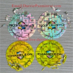 Nice hologram destructible label from China customed glossy hologram sunshine warranty screw label for Logo label