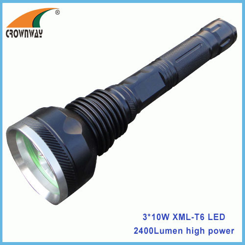 2400Lumen high power 10W XML Cree LED Flashlight 18650 rechargeable lantern portable emergency light repairing lamps